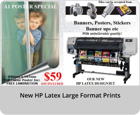 New HP Latex Large Format Prints