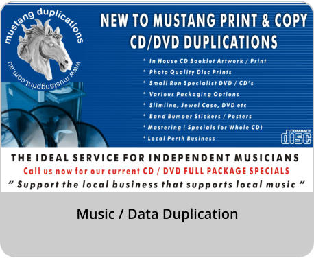 Music / Data Duplication