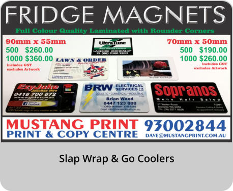 Slap Wrap & Go Coolers