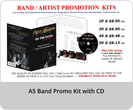 A5 Band Promo Kit with CD