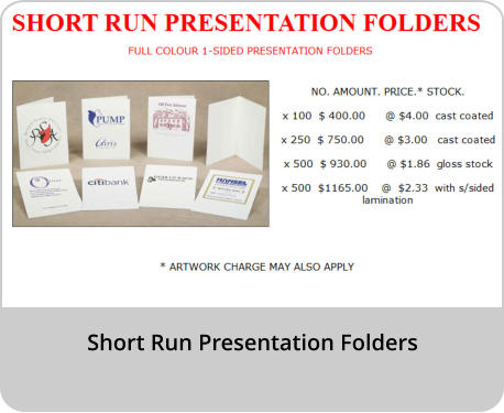 Short Run Presentation Folders