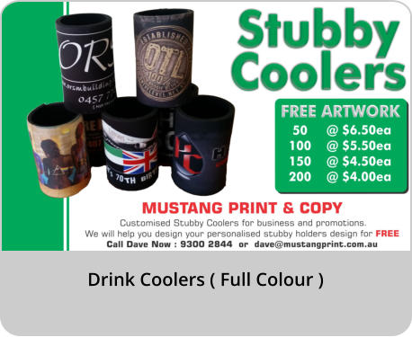 Drink Coolers ( Full Colour )